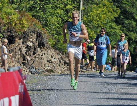 Lokal vinner: For to år siden var det Mats Breda fra Sande som stakk av med seieren i motbakkeløpet Fjellskar Opp. Foto: Svein-Ivar Pedersen