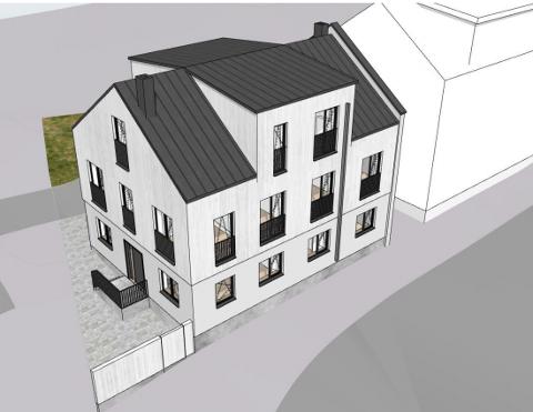 TEGNINGER: Slik ser skissene ut for den nye boligen med adresse St. Marie gate 16.