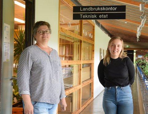 Miljøvernnkonsulent Ann Kristin Halvorsrud (t.v.) og miljørådgiver Amalie Krog Klette skal på befaring hos Åge Sandtorp i oktober.