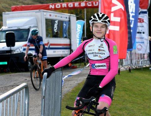 SEIER: Emil Svarstad vant sin klasse under norgescupen i sykkelkross i Sien fritidspark lørdag. foto: ole martin møllerstad