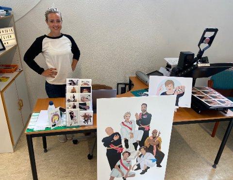 KUNST: Belinda Brunsvik elsker humoristiske karikaturer av kjente personligheter.