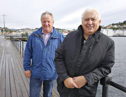 Festdager: Handelsmarked i sentrum og konsert i Braatthallen er blant aktivitetene som Einar Wikan (til venstre) og Egil Holberg håper vil trekke mange til Kristiansund neste helg.