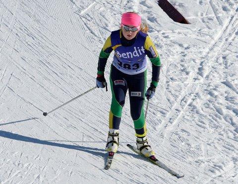 TIL TOPPS: Vilde Marie Thon Christensen vant klasse J 15 på Østre Toten i helga.