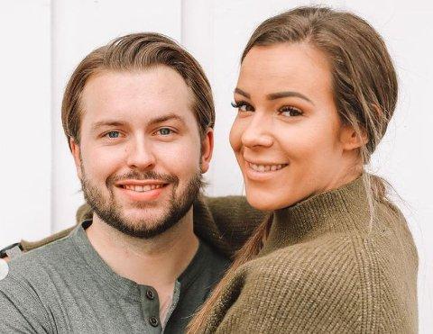 BRUDD: Sara Emilie Tandberg og forloveden Robin Daldorff Magnussen har flyttet fra hverandre.