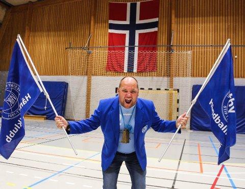 Fornøyd: Leder i Vestby Håndballklubb, Thomas Blomqvist er godt fornøyd med overføringen som klubben mottar via Grasrotandelen. Allikevel mener han er det er gode muligheter for å heve summen ytterligere.
