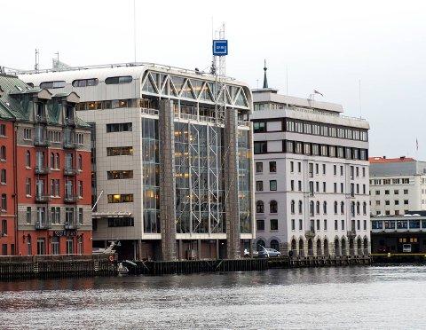 Grieg Seafood samler alle stabsfunksjoner i Bergen. Dermed øker antall administrative stillinger i Grieg-gården, men det totale antall administrativt ansatte i selskapet blir kraftig redusert. FOTO: RUNE JOHANSEN