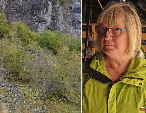 Ingeborg Hamre har aldri tidligere opplevd et ras på strekningen Voss - Arna. Nå er hun bekymret for hjemturen på mandag.