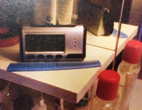 Spionkamera på badet så ut som en radio. Det kan kjøpes på nettet for noen hundrelapper.