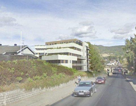 Nytt boligbygg: Langs rv 35 ved Sundmoen planlegges det mellom 35 til 40 nye leiligheter. Ill: Arkitektgruppen Drammen AS: