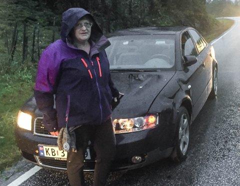 MÅ VRAKAST: – Det kan verke som eg ikkje får bilen tilbake i det heile teke, men forsikringa dekkar heldigvis alt, seier Anne Marie.