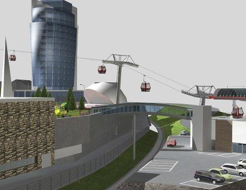 LUFTIG: Slik ser ForteNarvik for seg en ny bybane i Narvik. Steinar Sæterdal stiller spørsmålstegn ved om det er mulig.