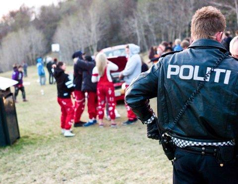 Det var tildragning til slossing blant russ i Ornesvika, men det roet seg da politiet kom.