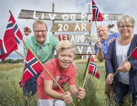 Bli med på feiringa: Oppfordringen kommer fra Harald Moen, Magnus Il           bråten Østvand, Kjetil Sløtte og Hilde Lerdalen Rybråten.