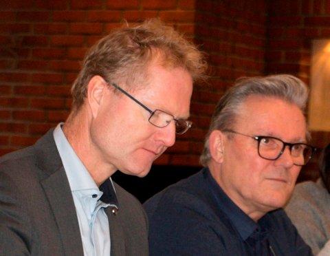 TOPPKANDIDATER: Stortingsrepresentant Tor André Johnsen (til venstre) og første vararepresentant Johan Aas ønsker begge gjenvalg på Fremskrittspartiets stortingsliste til valget neste høst.