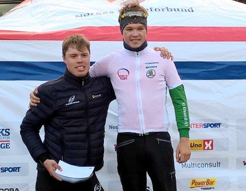 IMPONERENDE: Lillehammer-syklistene har imponert denne sesongen. Tobias Foss og Rasmus Fossum Tiller tok dobbeltseier i norgescupen