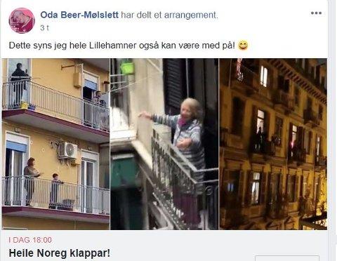 FACEBOOK: Faksimile fra gruppen Det skjer i Lillehammer.
