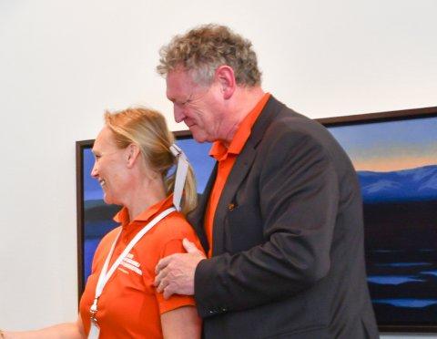 Reine ord åpning 2018. Wiggo Andersen, William Nygaard med Lofotprologen, Finn Stenstad fikk Reine ord-prisen.