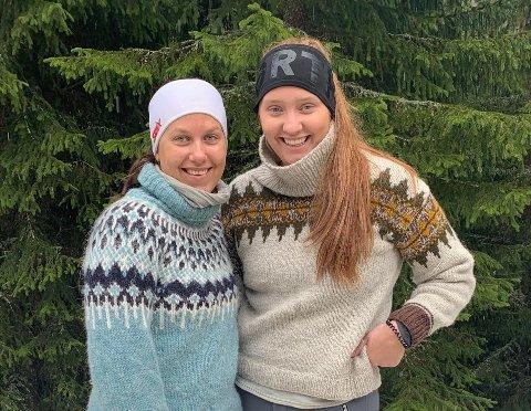 KLARE FOR TRE ÅR I NAMSOS: Lene Sæther Krabseth (til venstre) og Hanne Ødegård kom inn på sitt førstevalg. Snart begynner de studiene på Nord universitet i Namsos.