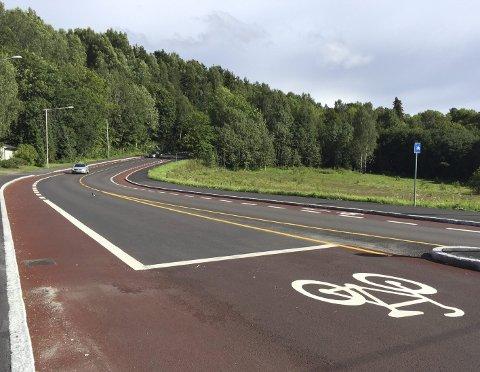 ETERVEIEN: Her er det ingen tvil om hvilken del av veibanen som er forbeholdt syklister. Foto: Nina Schyberg Olsen