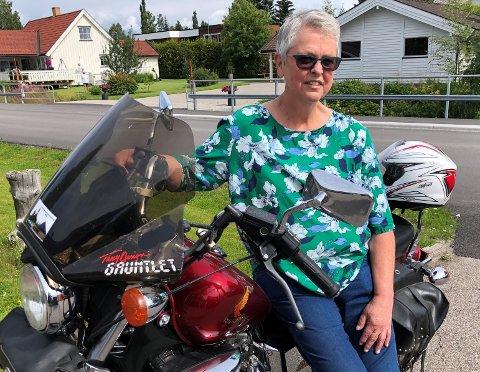 MILJØET PREGES: Ugla MC-klubb sin leder, Britt Langerud, sier at en ny tragisk hendelse hvor en motorsyklist med lokal tilknytning omkom, selvsagt preger miljøet.
