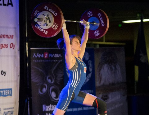NORSK REKORD: Helene Skuggedal satte ny norsk rekord i støt under det nordiske U17-mesterskapet.