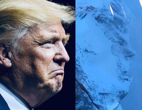 Donald Trump dukket opp i fjellsiden 1. april, men det var slett ingen aprilspøk.