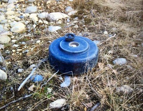 Øvingsmine funnet ved den gamle flyplassen på Eggemoen. - Ufarlig, sier politiets operasjonsleder, Marianne Mørch.