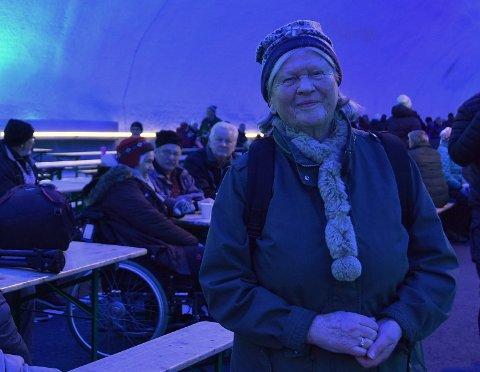 STOR DAG: Gunhild T. Dølen var fra seg av begeistring da hun fikk rusle rundt i milliardtunnelen i Mælefjell. Hun roser alle som har stått på for at prosjektet ble realisert.