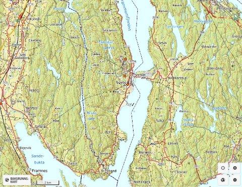 Her finnes varslingsanleggene i gamle Svelvik kommune.