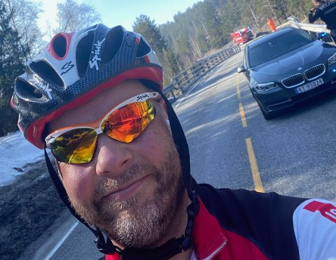 LANGTUR: Bengt Halvard Odden så ikke for seg at årets første sykkeltur skulle bli så lang.