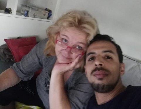 KJÆRESTER: Lill-Ann Haugerud og Abdelkhaleq El Madini er fortvilet over at Abdelkhaleq ikke får lov til å reise til Norge.