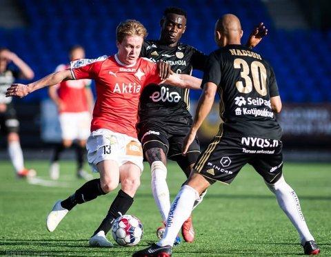DRO HJEM: Jakob Maslø Dunsby leverte et godt halvår for Helsingfors IFK i den finske toppdivisjonen. Det stoppet på 11 kamper og tre mål for midtbanespilleren.