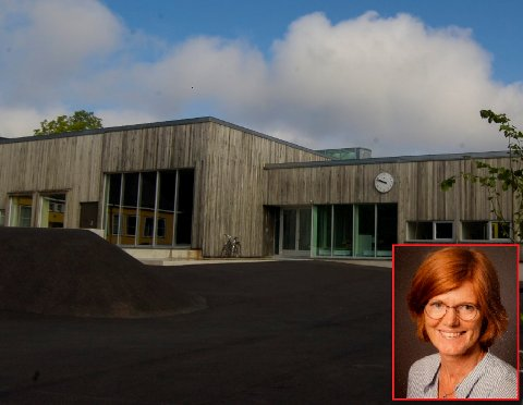 TAR GREP: Rektor Bente Marthinsen ved Lindhøy skole innfører hjemmeskole for de eldste elevene i uke 12 og 14.