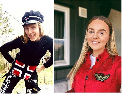 Positive: (f.v) Årets svartrusspresident Oda Hjelle og årets rødrusspresident Berit Henriette Rognås er positive til en endring av russetidens tidspunkt.