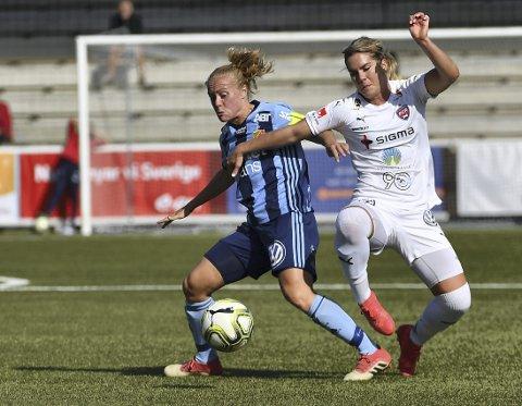 Mia Jalkerud (t.v.) har scoret jevnt og trutt for Djurgården opp gjennom årene.