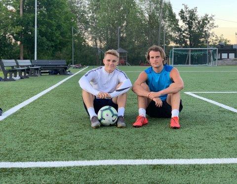 GODE KOMPISER: Marcus Næslund Haugland og Martin Ødegaard har spilt fotball sammen gjennom hele oppveksten. Førstnevnte ga seg med toppfotball etter videregående, mens Ødegaard som kjent spiller i Real Madrid. Haugland mener han tok det rette valget ved å prioritere studier fremfor toppidrett.