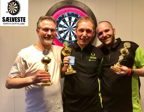 Pallen: Fra venstre: Tommy Kristensen, Ronny Bergvik og Ove Rom.