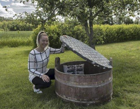 KREATIVITET: En gammel saltbalje kan bli til en sittebenk med oppbevarings        muligheter når man tenker redesign.BILDER: MONA ROLFSDATTER OLSEN