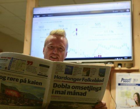 Lover mye innhold: Redaktør Eivind Dahle Sjåstad lover mye lokalt innhold gjennom hele sommeren.