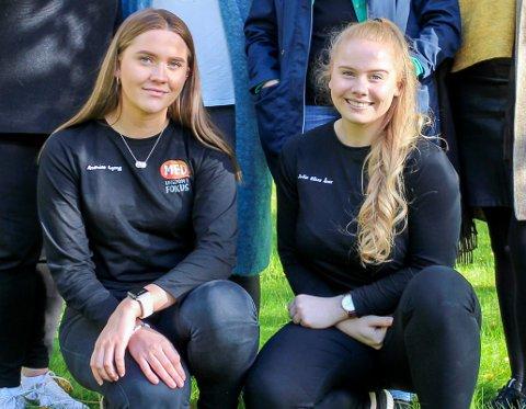 Klare: Andrine Lyeng og Sofie Ånes fra MED ungdom i fokus har lagt opp til aktiviteter inn imellom foredragene.