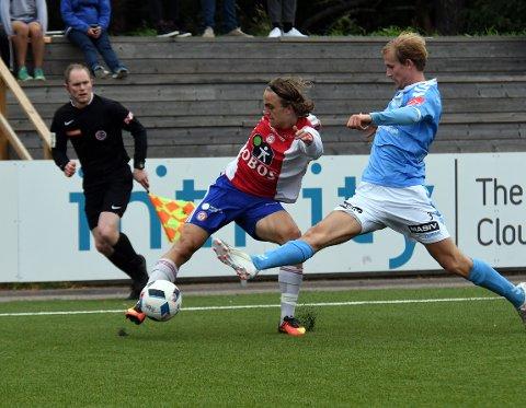 TAPTE: Edvin Akselsen scoret, men KFUM tapte 1-3 for Sandnes Ulf.