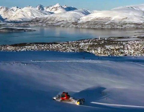 VAKKERT: Det er fin utsikt fra den nye skiløypa