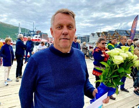 GODT HUMØR: Ordfører Gunnar Wilhelmsen, leder valgstyret i Tromsø for årets Stortingsvalg og Sametingsvalg  ber folk ta med godt humør på valgdagene.