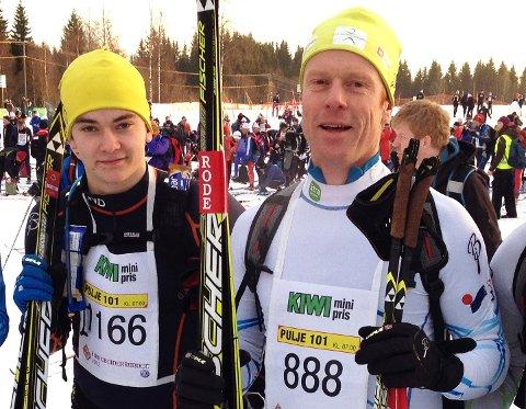 NAVNEBRØDRE: Erlend Almåsvold Røste og navnebror Bjørn Erlend Dæhlie fra da de gikk Birken sammen i 2012.