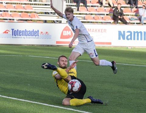 Håkon Leine og Raufoss misset en rekke sjanser i 2-2-kampen mot Grorud.