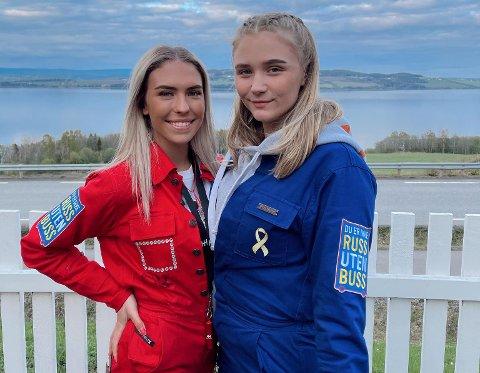 MOT SLUTTEN: Russepresident Heidi Buflaten (t.v.) og venninna Julie Lauritsen håper å få med seg litt moro på oppløpet av russetiden