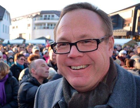 NÆR MÅLET: Ringsaker når snart målet om å passere 35.000 innbyggere. Jørn Strand er fornøyd med utvikliingen.