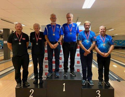 Norgesmestere i double herrer: 1.-plass: Asle Georg Karlsen og Harald Håverstad. 2.-plass:   Einar Hartveit og Kjell Ivar Mesics. 3.-plass:  Einar Felde og Stein Erik Wroldsen.