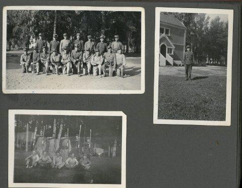 ALBUM: John O.Miland  gikk på rekruttskolen på Hvalsmoen i 1935 (bilder fra hans fotoalbum) I april 1940 var han tilbake på Ringerike. Nå var det alvor.