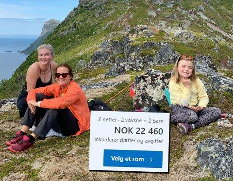 SENJA: Gøril Voldnes sammen med døtrene Anna Jakobsen Voldnes (16) og Elise Kjellsdatter Voldnes (8).